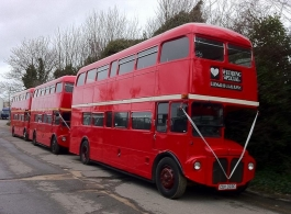 Vintage & classic Wedding Buses in London